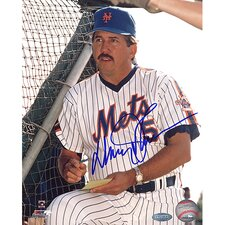Davey Johnson Autographed New York Mets Photograph