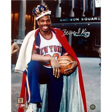 "Bernard King 8"" Autographed With Crown in Front of The Garden Photograph"
