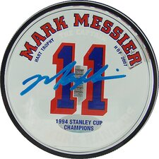 Mark Messier Rangers Acrylic Stat Puck