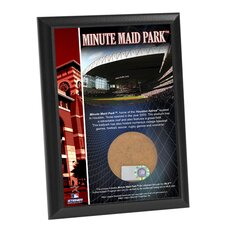 "Minute Maid Field 4"" x 6"" Game Used Dirt Plaque"