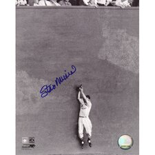 Stan Musial Catch Against The Wall Autographed