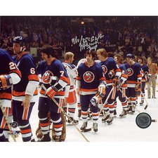 NHL J.P. Parise Islanders Shaking Hands After Eliminating Rangers Photograph