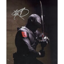 Ray Park GI Joe In Black Suit Vertical Autographed