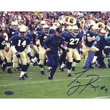 Tony Rice Lou Holtz Running with Team Horizontal Autographed