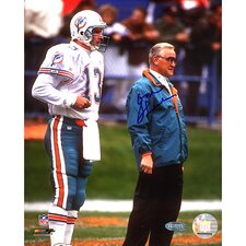 NFL Don Shula On Sidelines with Dan Marino Autographed