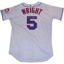 David Wright Mets Authentic Gray Road Jersey - Back Number