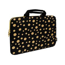 Printed Polka Dots Neoprene Laptop Sleeve