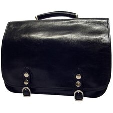 <strong>Alberto Bellucci</strong> Verona Comano Leather Laptop Briefcase
