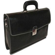 Verona Vernio Leather Laptop Briefcase
