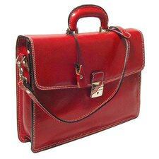 <strong>Alberto Bellucci</strong> Verona Vernio Leather Laptop Briefcase