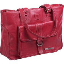 "Stafford 15.6"" Pro Leather Laptop Tote"