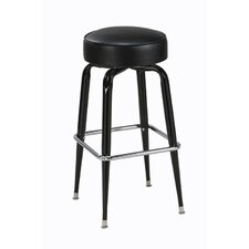 "Steel Square Ring 30"" Backless Metal Barstool"