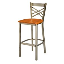 "Steel X Back 30"" Metal Barstool"