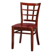 Beechwood Lattice Back Side Chair