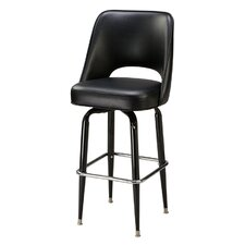 "Cut-Out Back 30"" Metal Swivel Barstool"