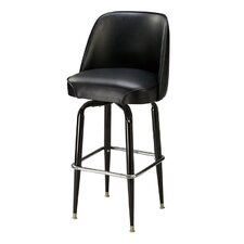 "Classic 30"" Metal Swivel Bucket Barstool"