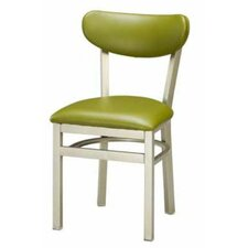 Steel Upholstered Back Side Chair
