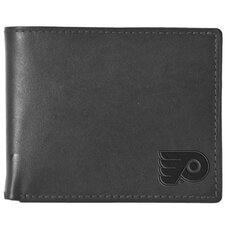 NHL Philadelphia Flyers Black Leather Wallet