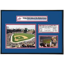 MLB That's My Ticket Turner Field Ticket Frame (Horizontal) - Atlanta Braves