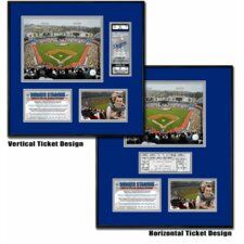 MLB Dodger Stadium - Ballpark Ticket Frame - Los Angeles Dodgers