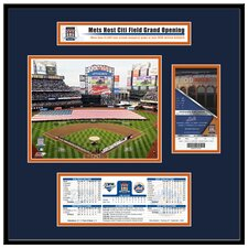 MLB Citi Field Inaugural Game 2009 Opening Day Ticket Frame Jr. - New York Mets