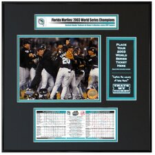 MLB 2003 World Series Ticket Frame Jr. - Team Celebration - Florida Marlins