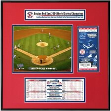 MLB 2004 World Series Ticket Frame Jr. - Game 4 Final Play - Busch Stadium - Boston Red Sox