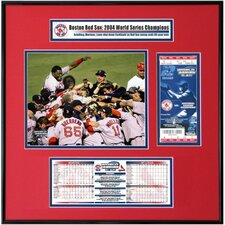 MLB 2004 World Series Ticket Frame Jr. - Game 4 Team Celebration - Busch Stadium - Boston Red Sox