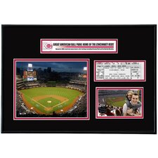 MLB Great American Ball Park Ticket Frame - Cincinnati Reds