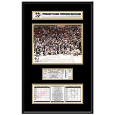 NHL 2009 Stanley Cup Ticket Frame Jr. - Pittsburgh Penguins