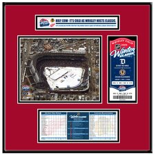 NHL Winter Classic Ticket Frame Jr. - Aerial Photo - Chicago Blackhawks
