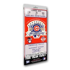 1990 MLB All-Star Game Chicago Cubs Mini Mega Ticket