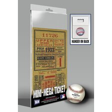 1933 MLB World Series New York Giants Mini Mega Ticket