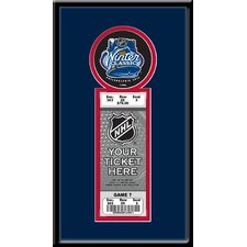 2012 NHL Winter Classic Single Ticket Frame