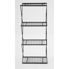 "Exy Narrow X-Up 48"" Four Shelf Shelving Unit"