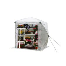 Orchidhouse 6 Ft. W x 6 Ft. D Polyethylene Greenhouse
