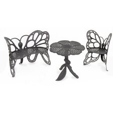 <strong>Flowerhouse</strong> Butterfly 3 Piece Bench Seating Group