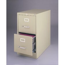 "26.5"" Deep Commercial 2 Drawer Letter Size High Side Vertical File Cabinet"
