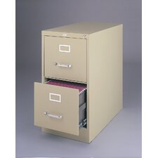 "25"" Deep Commercial 2 Drawer Letter Size High Side Vertical File Cabinet"