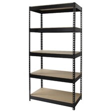 "<strong>CommClad</strong> Iron Horse Rivet 72"" H x 36"" W Five Shelf Shelving Unit"