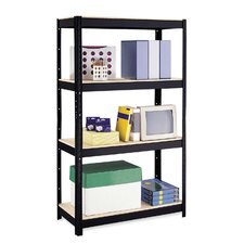"<strong>CommClad</strong> 500 Series 3-Shelf Unit , 4-Shelves, 36""x16""x60"", Black"