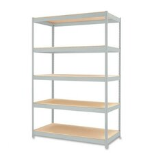 "Heavy-duty Industrial Shelving Unit, 48""x24""x72"", Light Gray"