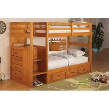 Weston Twin Over Twin Staircase Bunk Bed with Storage