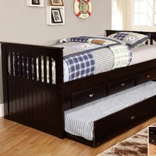 <strong>Discovery World Furniture</strong> Twin Rake Daybed with 3 Drawers and Trundle