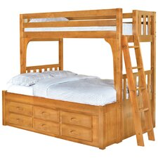 <strong>Discovery World Furniture</strong> Convertible Twin over Full Six Drawer Bunk Bed