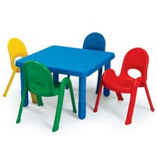 <strong>Angeles</strong> Square Baseline Preschool Table and Chair Set