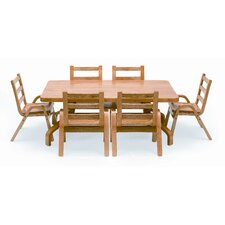 "<strong>Angeles</strong> NaturalWood 12"" Rectangle Toddler Table and Chair Set"