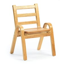 "11"" Wood Classroom Stacking Chair"