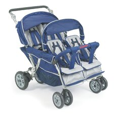 <strong>Angeles</strong> SureStop Folding Commercial Bye-Bye 4-Passenger Tandem Stroller