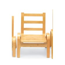 "9"" Wood Classroom Stacking Chair"